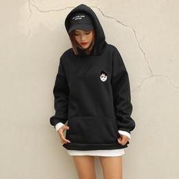 senhoras do hoodie dos desenhos animados Desconto Harajuku Mulheres Camisola Hoodies Moda Fleece Patchwork Kawaii Dos Desenhos Animados Impresso Pullovers Senhoras Casuais Streetwear