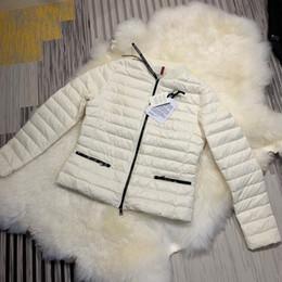 Casacos finos de mulher on-line-Marca mulheres para baixo casaco de inverno Senhoras anorak para baixo casacos estilo slim com capuz jaquetas parka seção fina
