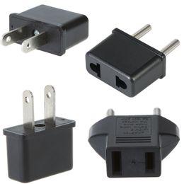 2019 adaptador elétrico universal Universal UE / EUA Plug Power Adapter Conversor Tomada para Casa de Viagem Do Mundo Carregador de Parede Plugue Elétrico adaptador elétrico universal barato