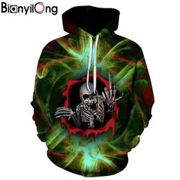 мальчики черепа толстовки Скидка New Hoody 3D Green Skull Printed Hoodies Men Sweatshirts Women Funny Unisex Pullover Hooded Tracksuits Boy Jackets