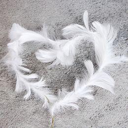 Pasteles de boda de plumas online-Creative Crown \ 's Swan Feather Cake Accesorio Hogar Pastel Insert Decoración para Boda Fiesta de cumpleaños Decoración