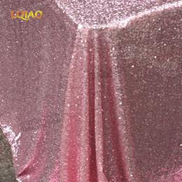 2019 серебряные синие праздничные украшения Блестящие розовое золото / серебро 120x200cm блесток гламурная скатерть / ткань для свадебного стола украшения блесток скатерть T8190620 дешево серебряные синие праздничные украшения
