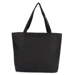Wholesale Venta caliente barata de moda en blanco bolso de las mujeres llano negro color blanco bolsa de lona lienzo de calidad bolsa de compras totalizador barato precio