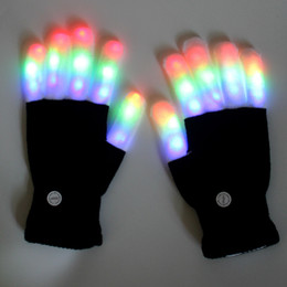 Bastoni di puntelli online-Guanti LED fluorescenti Puntelli natalizi Guanto Raver per bastoncini luminosi per vacanze Fidget Spinner Led Lampion Glow Forniture per feste