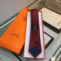 Designer Tie H Pattern Cravatta Jacquard Cravatta di seta twill cucita a mano Modello geometrico H 2019 Prodotti di lusso Nuova collezione da uomo da prodotti a mano fornitori