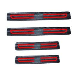 Haufen aufkleber 4d kohlefaser reflektierende autotürschwellen für mitsubishi lancer ex lancer galant asx pajero outlander grandis auto-styling ... von Fabrikanten