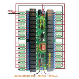 Controlador de plc online-1pc 12V 32 RS485 Módulo de relé Interruptor en serie PLC Controller WIF66