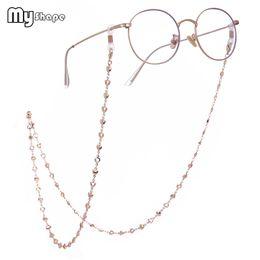 Gold herz geformte gläser online-Meine Form 78cm Herz Hohl Brillen Kette Gold Silber Rose Überzogene Sonnenbrille Kette Perlen Schnur Brillen Frauen Brillen Zubehör