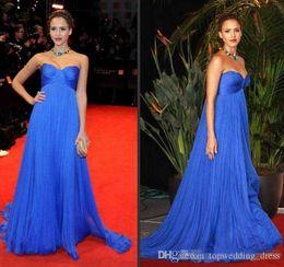 Royal Blue Império Cintura Maternidade Vestidos de Noite Custom Made Plus Size Celebridade Vestido para As Mulheres Grávidas Querida Longo Partido Prom Vestidos de