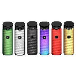 2019 botões da caixa de música Nord Starter Kit Pod Com 1100 mAh Bateria 3 ML Cartucho Atomizador Com Nord Mesh Coil Cigarro Vape 0268109