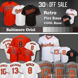2fe65f20243 Baltimore 13 Manny Machado Oriol jersey 12 Roberto Alomar 8 Cal Ripken Jr. 10  Adam Jones Baseball Jerseys
