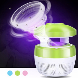 zapper lamp Promo Codes - BRELONG Mosquito Zapper Fly Killer Light 5W USB Capture Mosquito Killer No Chemicals No Radiation Insect Killing Light