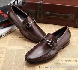Deutschland Männer echte Lederschuhe Luxus handgefertigte Müßiggänger Slipper auf italienischen Markendesigner männlichen Kleid Schuhe große Größe 45 cheap brands dress shoe Versorgung