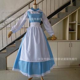 roupas de besta de beleza Desconto Cosplay beleza e besta Belle belle empregada doméstica vestir COS roupas princesa jogo local anime traje Frete Grátis Quente