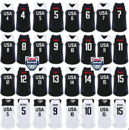 camisetas de baloncesto marrón Rebajas Copa del Mundo de EE. UU. 2019 Equipo de baloncesto Kemba 15 Walker 10 Jayson Tatum 5 Donovan Mitchell Khris Middleton Joe Harris 9 Jaylen Brown Jerseys