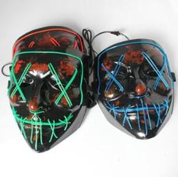 La máscara del horror de Halloween de luz LED de la máscara de Herramientas cosplay Partido horror que brilla Máscaras bailar en la oscuridad desde fabricantes