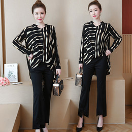 578626fc4ef YICIYA striped tracksuits for women 2 piece set plus size 4xl 5xl large  outfit sportswear co-ord set top and pants suits clothes