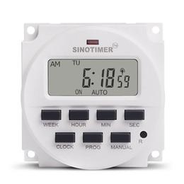 SINOTIMER 220V Weekly 7 Dias programável Hora Digital interruptor do relé de controle do temporizador para Aparelhos Elétricos 8 ON / OFF Configuração de
