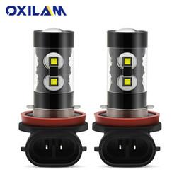 2019 lampadina a commutazione colore OXILAM 1400LM H11 LED Fendinebbia H16JP H9 H8 LED Lampadine per auto DRL Fari diurni luci per auto 12V 6000K Bianco