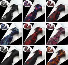 conjuntos de gravata de seda Desconto 20 Estilos Conjuntos Gravatas Dos Homens Floral 100% Tecido De Seda Jacquard Gravata Gravatas Corbatas Hanky Abotoaduras Gravata Set para Homens Casamento Formal gravatas