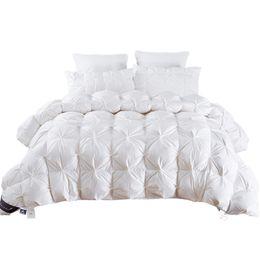 Manta rosa on-line-TUTUBIRD 2,7 ~ 4,9 kg / Duck tamanho para baixo Quilt Duvet Rei Rainha gêmeo Branco / Azul / Rosa / Brown Luxury Blanket Inverno Consolador Filler