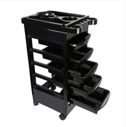 beauty salon clothes Coupons - Fashion convenience Free shipping Wholesales Salon Hairdresser Trolley Barber Beauty Storage Hair Rolling Cart Salon Tool