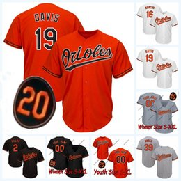 6ec39ca94 Womens Youth 19 Chris Davis 20 patch 2 Jonathan Villar 39 Renato Nunez  Orioles 16 Trey Mancini 35 Smith 14 Ruiz Baseball Jersey womens baseball  jerseys on ...