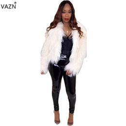 Женская одежда онлайн-VAZN 2018 Sexy Fashion Дизайн Тонкий Твердые Шубы Женщин Сексуальный Открытый Стежка Полный Рукав Верхняя Одежда Дамы Выдалбливают Пальто SN3482