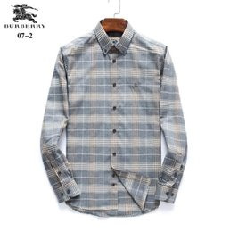 b45ba7c5 New Hot Sale BBR Small Lattice Men Dress Shirts Fashion Long-Sleeved Shirt  Luxury Dress Shirt Men's Casual Shirts Chemise Male Shirts #8546