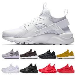 online store f2e5b 7b8ac Günstige Huarache 4.0 1.0 Triple Weiß Schwarz Rot Grau Männer Frauen  Huaraches Schuhe Huaraches Sport Sneakers Laufschuhe Schuhe 36-45 günstige  schwarze ...