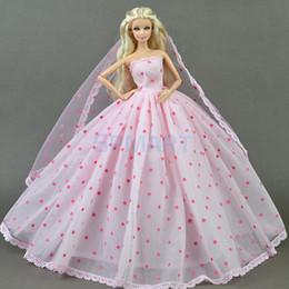 Encantador Vestido De 3 Capas De Vestido De Velo Para Barbie Para Dod Dollfie 16 Bjd Muñeca Traje De Fiesta