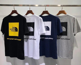 T-shirt col rond style hommes en Ligne-2019 été mode nouveau style nord hommes col rond t-shirt à manches courtes face coton hommes mens t-shirts occasionnels