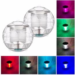 decorazioni di acqua galleggiante Sconti Solar Powered Color Changing Water Floating Ball Lampada LED Outdoor luce subacquea per Yard Pond Garden Pool Decorazione luce