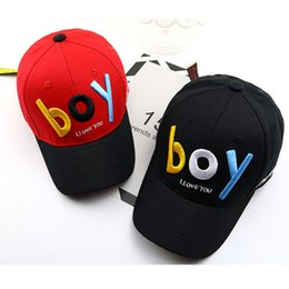 b5ad555a 2019 New fashion BOY hat Spring new children's letters boy and girl  baseball caps hip hop sun hat newborn photography props