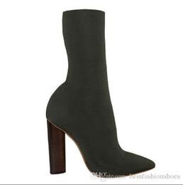 373c849d869 Automne sur le genou chaussons stretch chaussettes chaussettes talon épais  peep toe bottes sexy longues bottes noires cheville bottes martin bottes de  piste ...