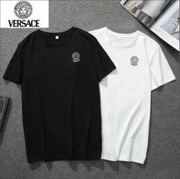Homme t-shirt taille 5xl en Ligne-NOUVEAU 2019 Marque VERSACE T-Shirt Hommes Sweatshirts Avec Lettres De Marque Designer De Luxe Pour Hommes Manches Pull Manteau Vêtements Taille S