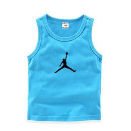 2019 grandes muchachos del verano camiseta de algodón de moda sin mangas chaleco recién nacido blusa deportes al aire libre niñas bebés camisetas tops ropa para niños desde fabricantes