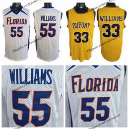 ed5eb99caed4 cheap jersey basketball shirt Australia - Mens White Chocolate Jason  Williams Florida Gators 55 College Basketball