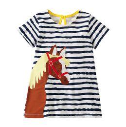 Canada 2019 Robes de soirée pour les filles 2-7ans Costumes de soirée pour les enfants vêtements de fille s'habille vêtements pour bébés Tops rayés Tailles mélangées en gros cheap striped tutu dress wholesale Offre