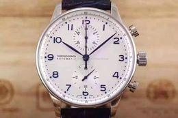 mens piloto relógio automático Desconto Novos relógios de luxo dos homens IW 371446 Portugal 7 séries piloto Mecânicos automáticos militares Relógios de pulso multi-functiona relógios esportivos de qualidade