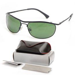 3e43dbde490 10PCS Brand New Designer sun glasses 8012 Mens Sunglasses womens glasses  Green Glass Lens unisex sunglasses Classic Luxury glasses With Boxs