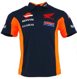 Wholesale 2018 MotoGP Tech Coton Polo T shirt Pour Yamaha M1 Racing Team Coopération Style Conception Moto Vélo T shirt D équitation