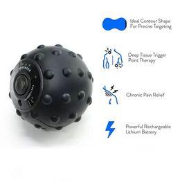 pelotas de goma para gimnasia Rebajas Bola de masaje vibrante Rodillo de masaje eléctrico Bola de fitness Alivio del punto de activación Entrenamiento Fascia Muscular local Relajación
