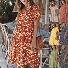 tissu vintage à imprimé floral Promotion Été Robe de festa mode sexy Expose robe imprimée robe boîte de nuit robe cuite lumière point vague manchon Lotus feuille