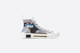 Scarpe bianche in cima online-2019ss Uomo Donna Blu hajime sorayama dinosaur navy Hi-top Sneakers b23 scarpe causali con suola in gomma bianca nera