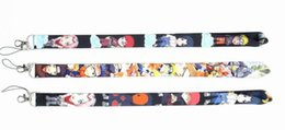 Telefone móvel anime on-line-Anime Naruto Keychain cordão para Mobile Phone Neck Straps Keychain Colar ID Card Badge Holder Neck Straps