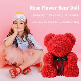 Romantische Rose Bär Puppe Hochzeit Schlafzimmer Dekoration Geburtstag Jubiläumsgeschenke 6 Arten für Freundin Schöne Kinder Bär Spielzeug von Fabrikanten