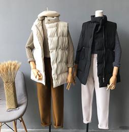 chaleco largo de algodón de señora c Rebajas El otoño y el invierno de las mujeres espesan la ropa de abrigo sin mangas de algodón dama abajo chaleco largo femenino más tamaño chaleco chaleco tb208