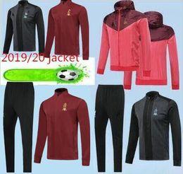 2019/20 Top Quality de Liverpool Nova Chegada jaqueta ComSet Outdoor Vestuário  Jaqueta 19/20 calça longa Nova Chegada m.salah soccer jacket de Fornecedores de jaqueta de ozil