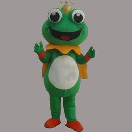 2019 trajes de rã 2019 Desconto venda da fábrica Super Hot Frog Príncipe Mascot Costume Fancy Dress EPE trajes de rã barato